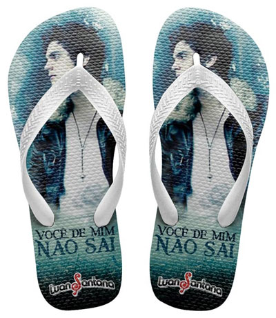 Chinelo do Luan santana