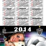 Moldura Calendario 2014 do Altetico Mineiro