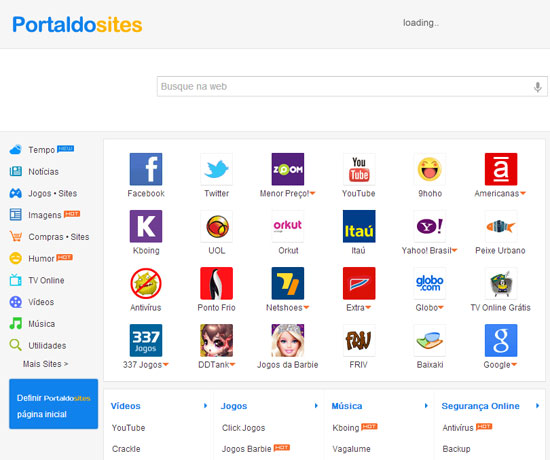 Tirar portal dos sites do computador